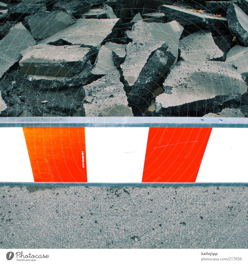 einstürzende neubauten Arbeit & Erwerbstätigkeit Beruf Baustelle Wirtschaft Handwerk Straße Wege & Pfade Verkehrszeichen Verkehrsschild Zeichen