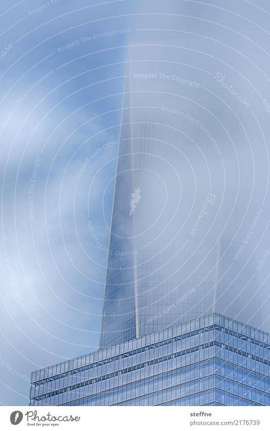 Smoke & Mirrors II Nebel außergewöhnlich New York City Manhattan World Trade Center Wolken Glas Farbfoto Außenaufnahme Menschenleer Textfreiraum links