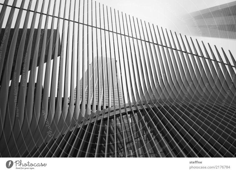 One World Trade Center 09 USA New York City Manhattan Wahrzeichen Sehenswürdigkeit Terrorismus Freiheit Hochhaus Skyline Schwarzweißfoto