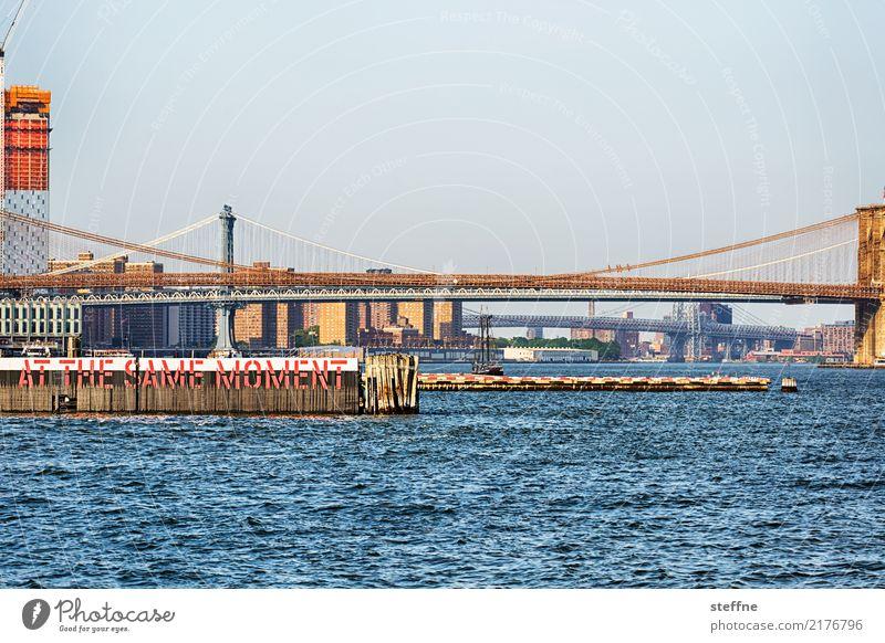 Brückentag: Brooklyn und Manhattan Stadt New York City Brooklyn Bridge Manhattan Bridge Staten Island Ferry Terminal Fähre East River Farbfoto Außenaufnahme