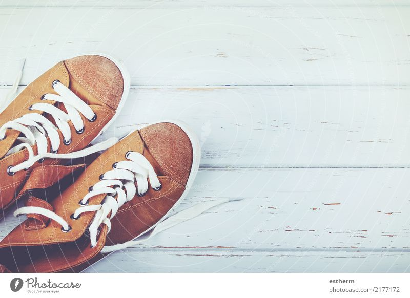 Turnschuhe Lifestyle Stil Design Ferien & Urlaub & Reisen Tourismus Ausflug Abenteuer Freiheit Sport Fitness Sport-Training Schuhe Hausschuhe laufen Gesundheit