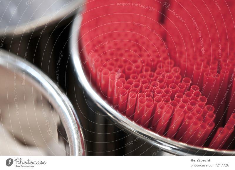 Straws at Dean & Deluca rot Metall rund Kunststoff viele silber Trinkhalm Behälter u. Gefäße Zylinder Spender