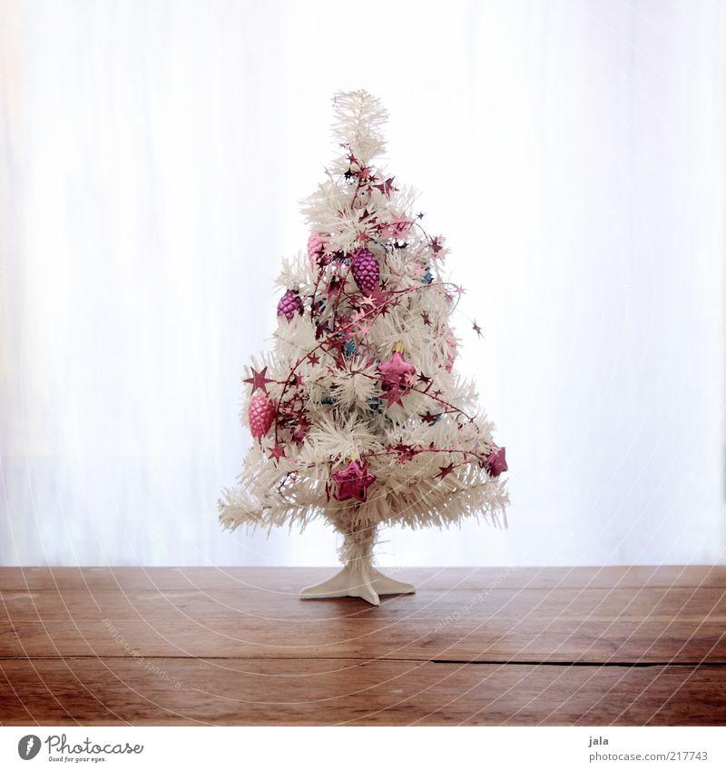 mein weihnachtsbaum... Weihnachten & Advent weiß Holz Feste & Feiern klein rosa Weihnachtsbaum Kitsch Dekoration & Verzierung Weihnachtsdekoration Licht