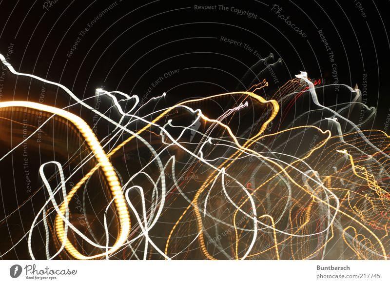 die große vereinigte Gravitations-Quantentheorie ist ganz nah weiß rot gelb Bewegung Kurve chaotisch durcheinander Lichtspiel Schleife Bogen Muster Lichtstrahl Lichtstreifen Lichtmalerei