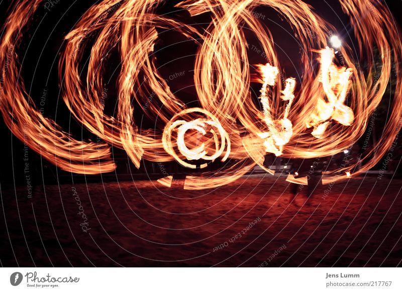 Flame Copyright Strand gelb gold Feuer Lifestyle Kreis Flamme kreisen Akrobatik Umwelt jonglieren glühend Zentrifugalkraft Feuerschein