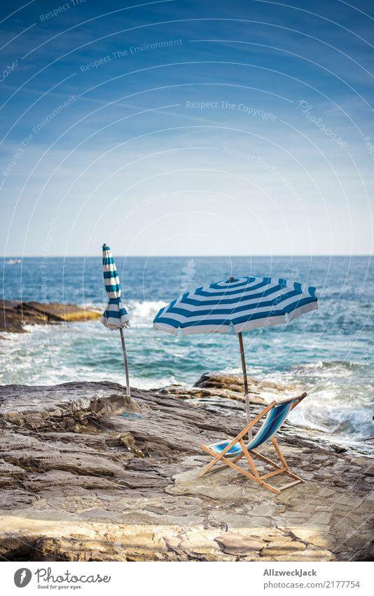 Summer Stilllife 1 Ferien & Urlaub & Reisen blau Sommer weiß Meer Erholung Einsamkeit ruhig Strand Freiheit Ausflug Wellen Schönes Wetter Sommerurlaub