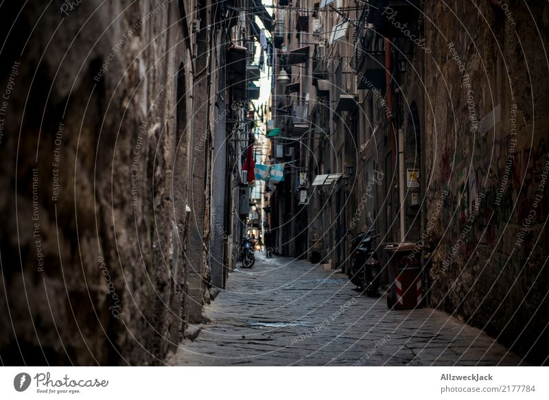 Die Straßen von Neapel 11 Farbfoto Außenaufnahme Ferien & Urlaub & Reisen Sightseeing Städtereise Sommerurlaub Lifestyle Haus Stadtzentrum Altstadt Gasse