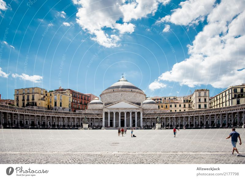 Piazza del Plebiscito in Neapel, Italien Reichtum elegant Freizeit & Hobby Ferien & Urlaub & Reisen Tourismus Ausflug Freiheit Sightseeing Städtereise Sommer