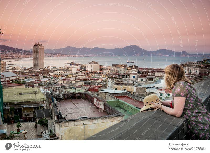Neapel Panorama 1 Lifestyle Ferien & Urlaub & Reisen Ausflug Ferne Sightseeing Städtereise Sommer Sommerurlaub Italien feminin Frau Erwachsene Mensch