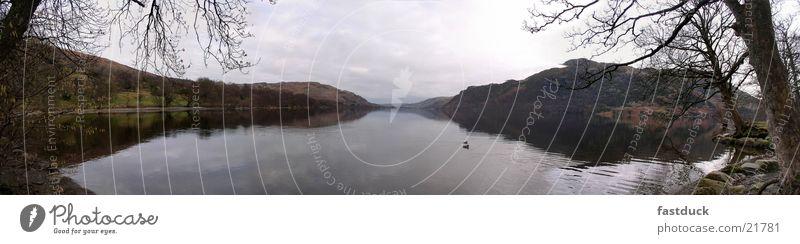 Seeblick  (Panorama) Wasser Berge u. Gebirge groß England Panorama (Bildformat) Großbritannien Lake District National Park