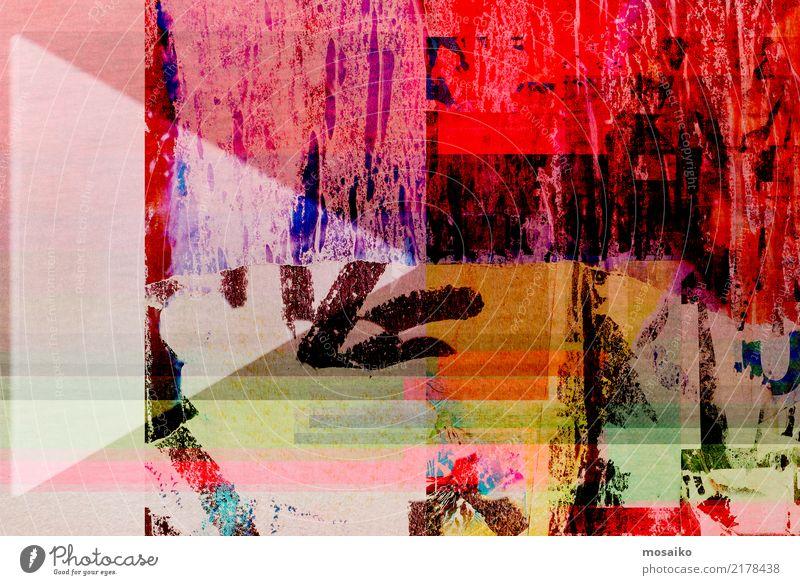 Altes Poster Design - Collage Farbe Lifestyle Hintergrundbild Stil Kunst außergewöhnlich retro elegant ästhetisch authentisch Papier historisch trendy Material