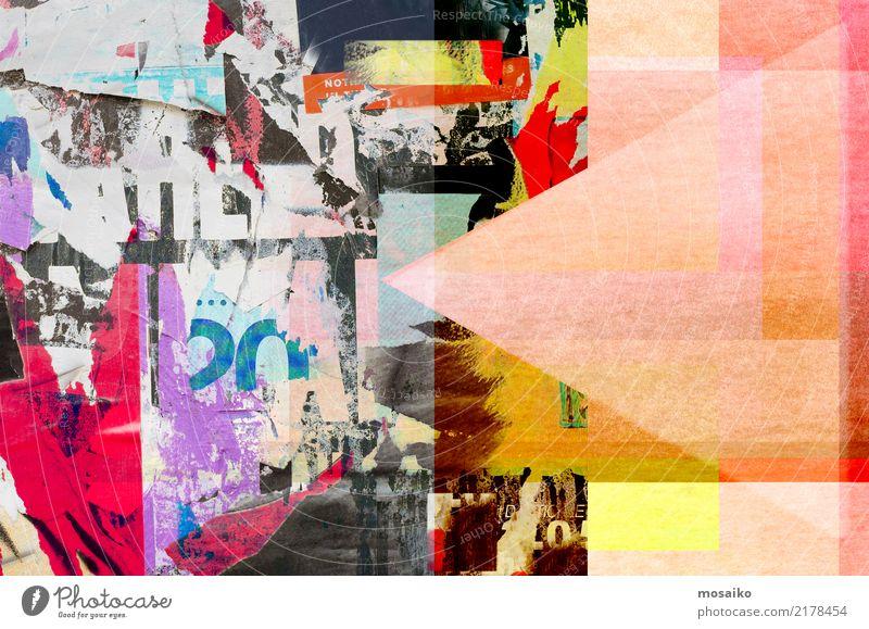 Altes Poster Design - Collage Farbe Freude Lifestyle Hintergrundbild Stil Kunst außergewöhnlich retro elegant ästhetisch Papier historisch trendy Material