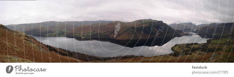 Lake District (Panorama) Wasser See groß England Panorama (Bildformat) Lake District National Park