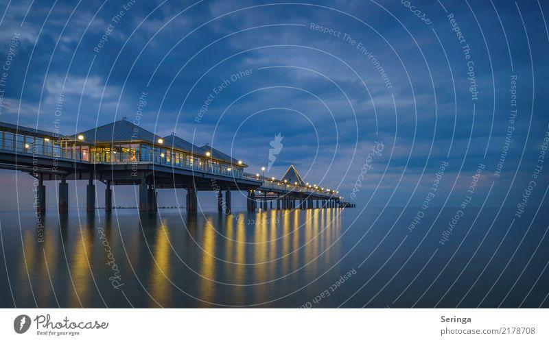 Heringsdorf Ferien & Urlaub & Reisen Tourismus Ausflug Ferne Freiheit Sommer Sommerurlaub Strand Meer Landschaft Wasser Himmel Wolken Nachthimmel Sonnenaufgang