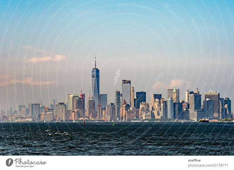 Skyline | Manhattan I Stadt Großstadt Hochhaus überbevölkert Häusliches Leben Wahrzeichen New York City USA One World Trade Center
