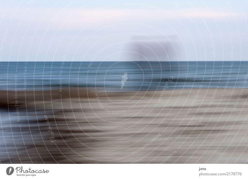 Zeit Leben Freizeit & Hobby Ferien & Urlaub & Reisen Ausflug Ferne Freiheit Strand Meer Horizont Ostsee Denken Traurigkeit Vertrauen Trauer Einsamkeit erleben