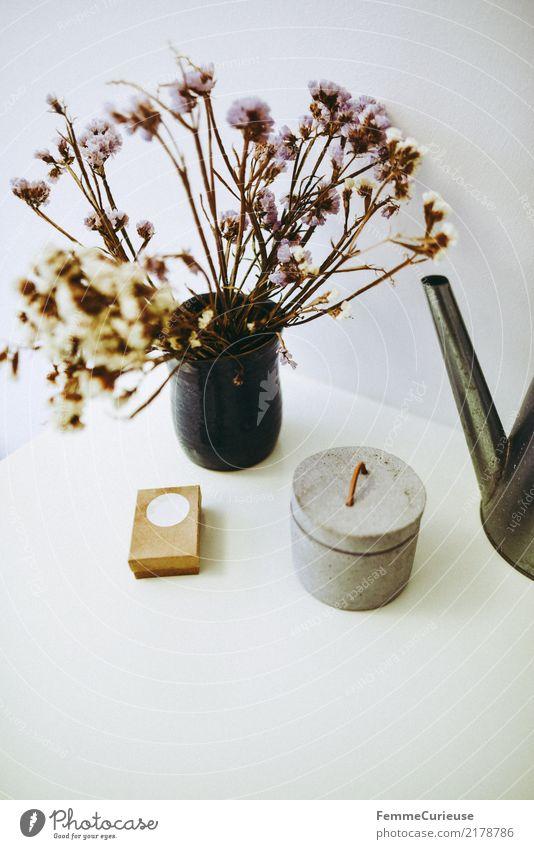 Home_10 Lifestyle Stil Design Häusliches Leben getrocknet Blume Dekoration & Verzierung Kommode Schrank Schachtel Gießkanne einfach Gedeckte Farben Schlafzimmer