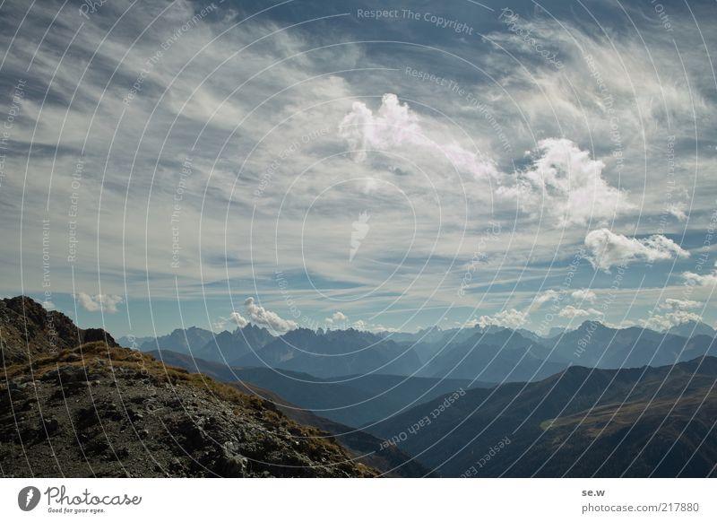 Also sprach Zarathustra   Antholz [8] Himmel blau Sommer Ferien & Urlaub & Reisen ruhig Wolken Einsamkeit Erholung Berge u. Gebirge Aussicht Alpen Unendlichkeit