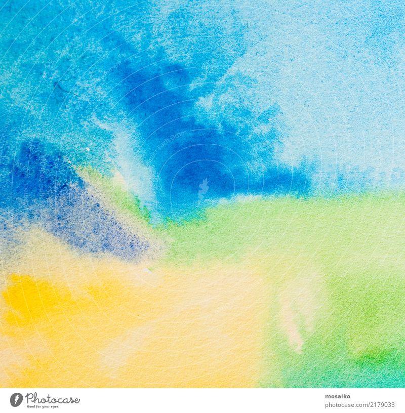 Aquarelle auf strukturiertem Papier - abstraktes Hintergrunddesign Stil Design Dekoration & Verzierung Bildung Kindergarten Schule lernen Kunst Kunstwerk