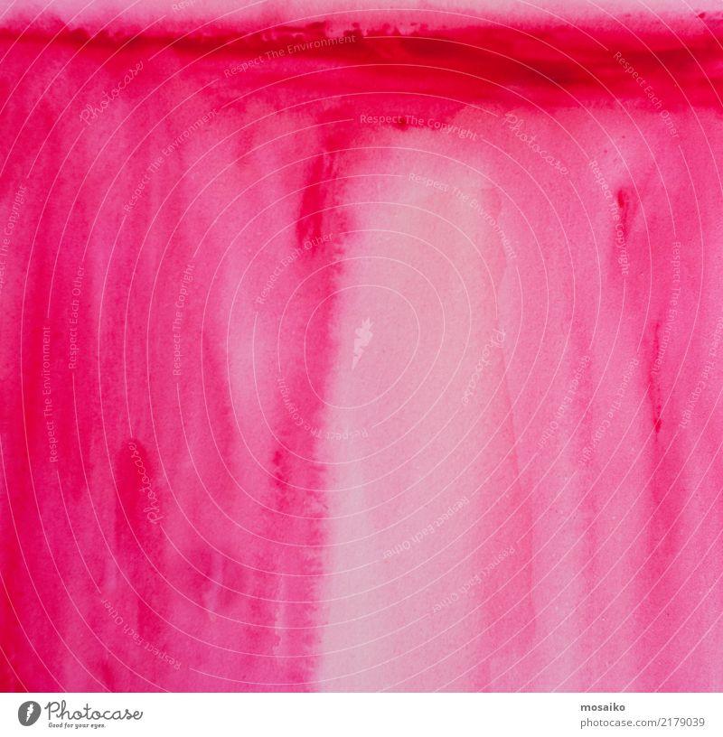 Pink - Wasserfarbe auf Papier Stil Design Bildung Kindergarten Schule lernen retro rosa ästhetisch Erotik exotisch Farbe Kitsch Kreativität Liebe Aquarell