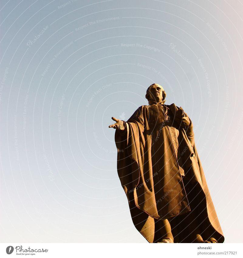 Weitsicht Statue Denkmal historisch Skulptur Rede Porträt Kunst Jurist Redekunst