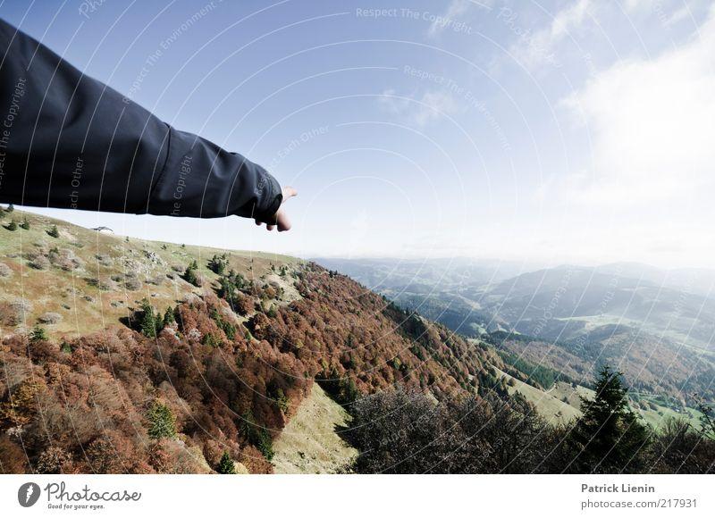 show me the world Natur schön Himmel Baum blau Wolken Wald Wiese Herbst Berge u. Gebirge Landschaft Luft Arme Wind Wetter Umwelt