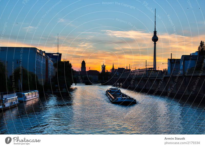 Blick von der Michaelisbrücke, Berlin Himmel Ferien & Urlaub & Reisen Sommer Wasser Landschaft Haus Ferne Architektur Umwelt Lifestyle Frühling Tourismus