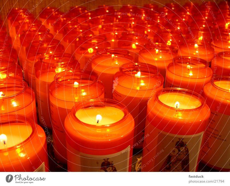 Hope Kerze Licht rot gelb Dinge Brand Kathedrale Luxemburg Religion & Glaube church