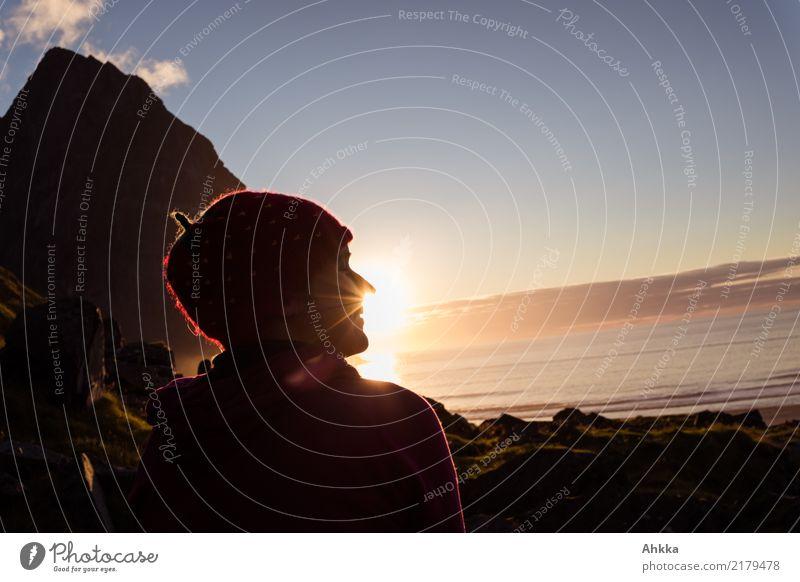 Sonnenlicht schnuppern Wohlgefühl Zufriedenheit Sinnesorgane Erholung ruhig Ferien & Urlaub & Reisen Abenteuer Ferne Freiheit Sommer Meer Berge u. Gebirge