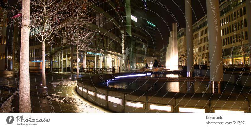 Frankfurter Welle (Panorama) Frankfurt am Main Nacht Langzeitbelichtung schwarz Panorama (Aussicht) Licht Architektur Wasser water night lights groß