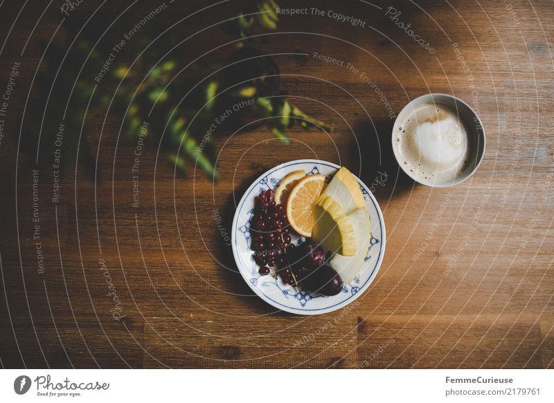 Home_20 Lebensmittel Ernährung Frühstück Kaffeetrinken Bioprodukte Vegetarische Ernährung Diät Getränk Gesundheit Frucht Kaffeetasse Cappuccino Grünpflanze