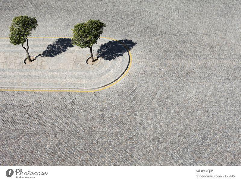 Umweltschutz? Natur Pflanze grün Baum Einsamkeit Architektur grau Kunst 2 Park Design Zufriedenheit ästhetisch Platz Beton harmonisch