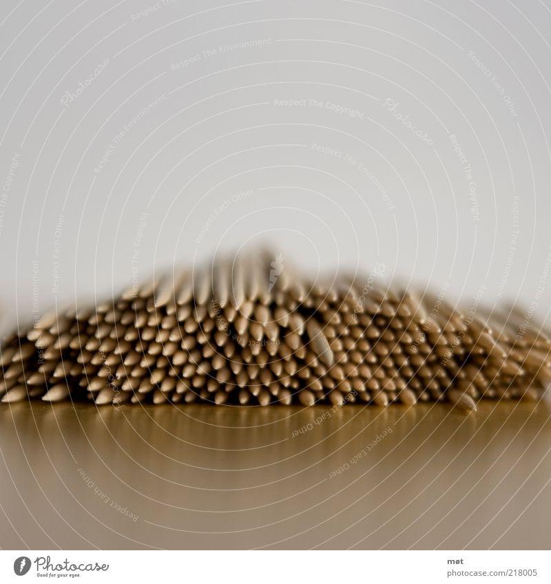 pieks 2 Sammlung Holz stachelig Perspektive Farbfoto Textfreiraum oben Textfreiraum unten Unschärfe Schwache Tiefenschärfe Haufen Zahnstocher aufeinander liegen
