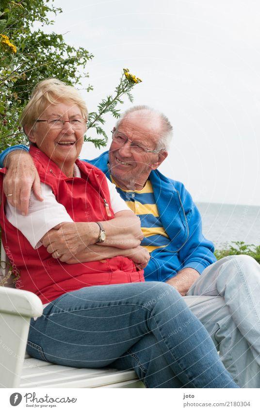 Senioren Freude Glück Leben harmonisch Wohlgefühl Zufriedenheit Ferien & Urlaub & Reisen Sommerurlaub Valentinstag Freundschaft Paar Partner 2 Mensch
