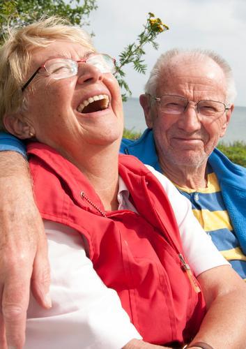 Herzhaft Leben harmonisch Wohlgefühl Ferien & Urlaub & Reisen Sommerurlaub Valentinstag Paar Partner Senior 2 Mensch 60 und älter lachen Fröhlichkeit