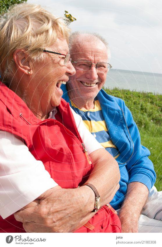 Lachanfall Freude Glück Leben harmonisch Wohlgefühl Zufriedenheit Ferien & Urlaub & Reisen Sommerurlaub Valentinstag Freundschaft Paar Partner Senior 2 Mensch