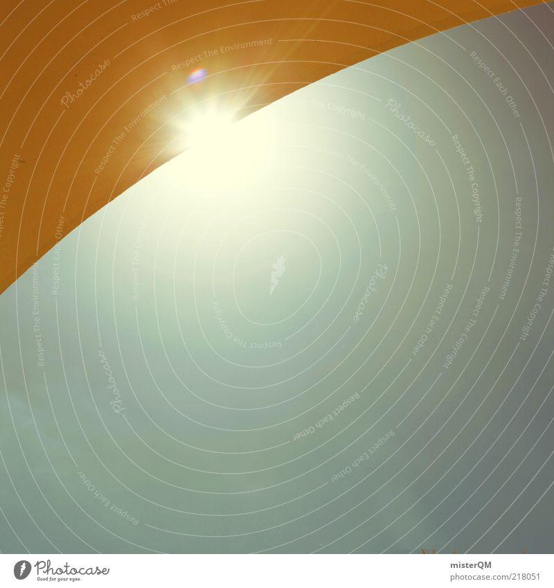 Sonnig. ästhetisch Zufriedenheit Sonnenaufgang Blauer Himmel Geometrie Schönes Wetter Bogen Torbogen geschwungen Kontrast gelb Portugal Sommer sommerlich