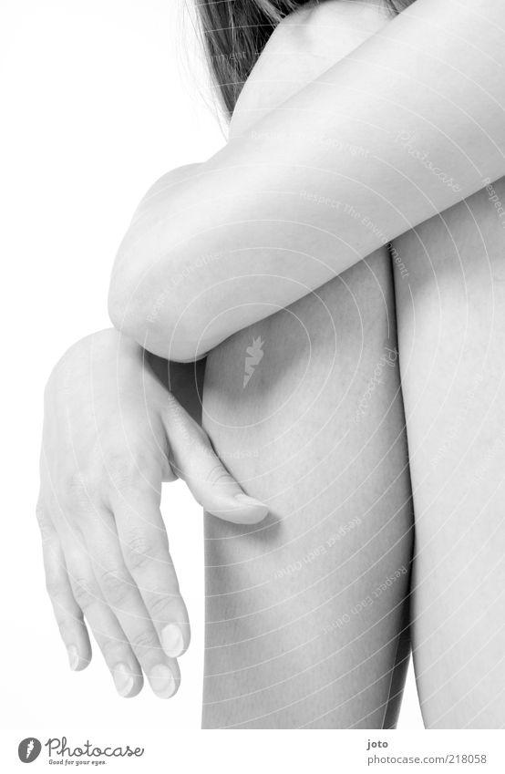 hautnah ** Frau Jugendliche Hand schön Erwachsene Einsamkeit feminin Gesundheit Zufriedenheit sitzen Haut ästhetisch Finger authentisch Sicherheit