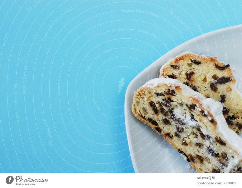 Stollen. blau Weihnachten & Advent Feste & Feiern ästhetisch Ernährung Süßwaren Tradition Appetit & Hunger Kuchen Dessert Vorfreude Backwaren Geschmackssinn