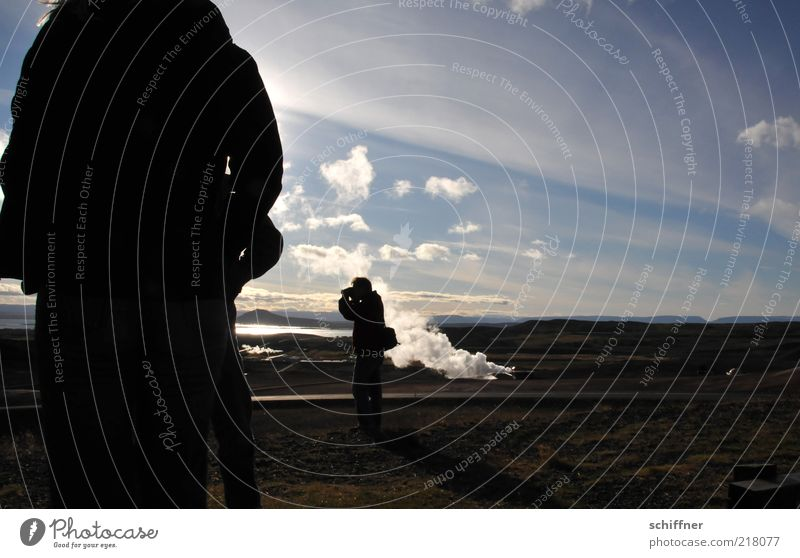 Rauchzeichen Mensch Natur Ferien & Urlaub & Reisen Landschaft Wolken Ferne kalt Reisefotografie Tourismus Wind Aussicht Ausflug Schönes Wetter Hügel Fernweh