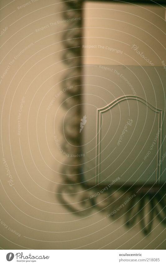 türlich türlich Spiegel alt ästhetisch authentisch elegant grün stagnierend Tür Rahmen Dekoration & Verzierung Wand natürlich Gedeckte Farben Innenaufnahme