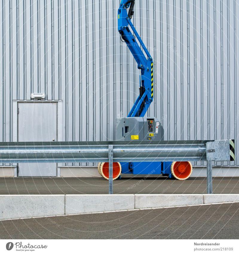 Mein Stativwagen Architektur Fassade Sicherheit Industrie Technik & Technologie Fabrik Dienstleistungsgewerbe aufwärts Wirtschaft Kran Gewerbe Wellblech