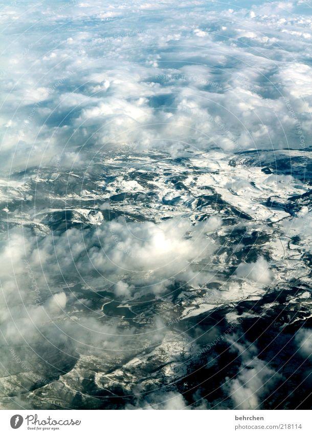 ein anderer blickwinkel Ferien & Urlaub & Reisen Tourismus Ferne Freiheit Umwelt Landschaft Himmel Wolken Winter Klimawandel Schnee Berge u. Gebirge Fernweh