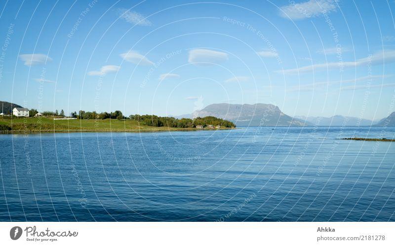 Sommeridylle, Norwegen, Meer, blau, schönes Wetter harmonisch Wohlgefühl Zufriedenheit Erholung ruhig Ferien & Urlaub & Reisen Sommerurlaub Landschaft