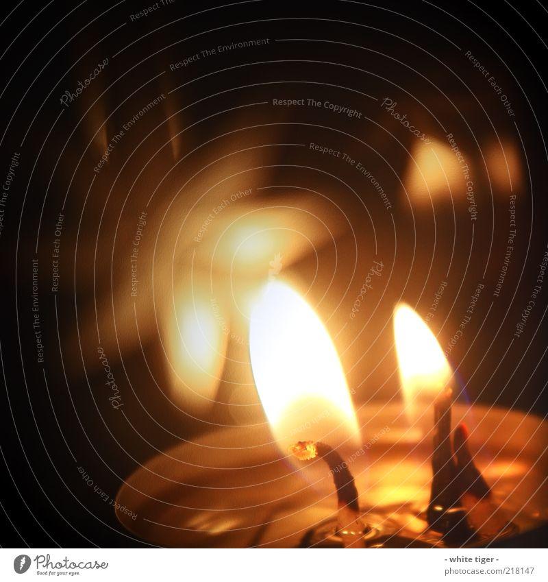 smooth light ruhig schwarz gelb Erholung Wärme Kerze weich Warmherzigkeit leuchten brennen Flamme Geborgenheit glühen Kerzenschein Wachs Licht