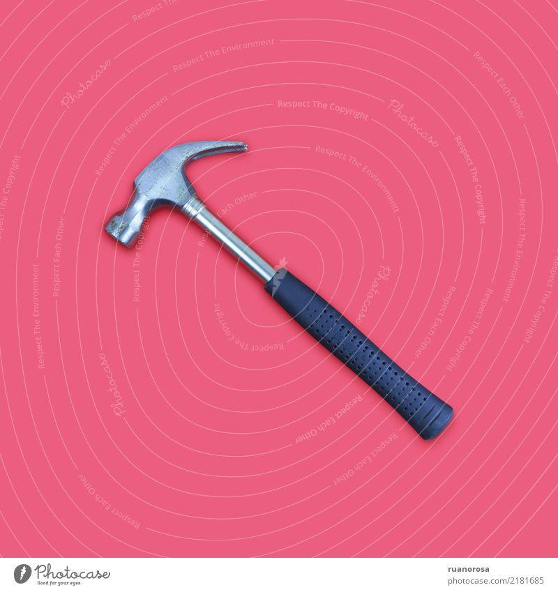 Einsames Objekt Nr. 4 rosa Metall Kunststoff Aggression Entschlossenheit Präzision