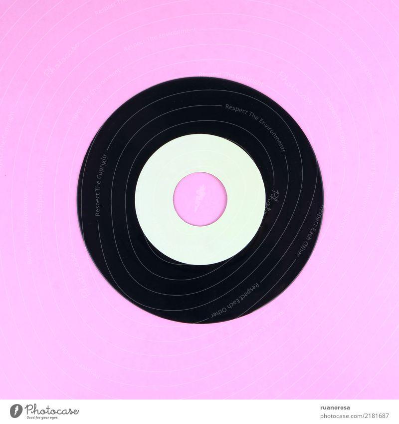 Einsames Objekt Nr. 2 Musik Schallplatte Sammlung Sammlerstück Kunststoff alt ästhetisch Coolness dünn elegant retro rosa schwarz Nostalgie Tradition