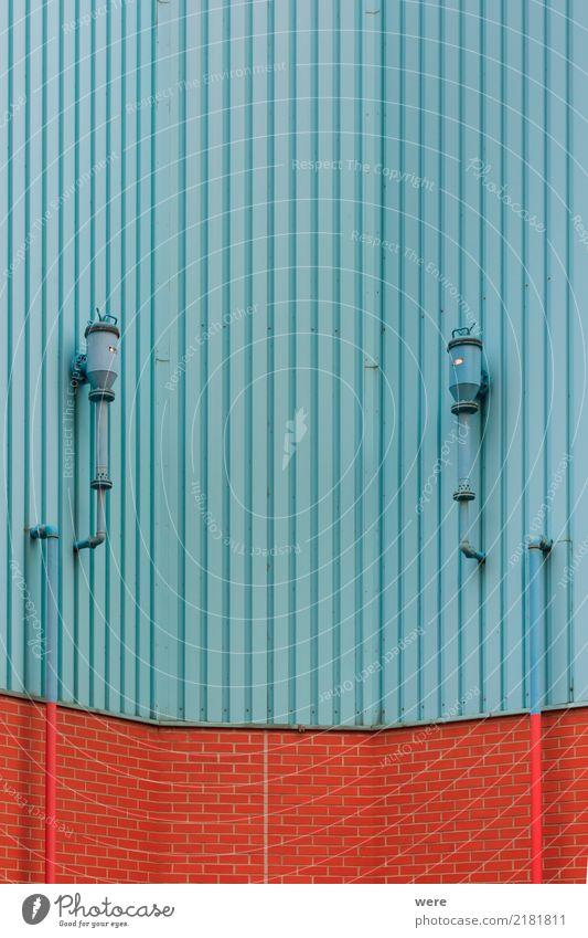Blech mit Profil Haus Gebäude Architektur Fassade Stadt Dinge Geografie Profilblechwand Renovierung Sanieren Wand Farbfoto Außenaufnahme Detailaufnahme
