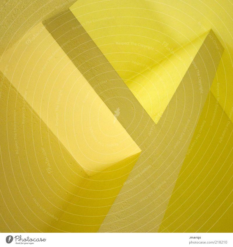 y ellow gelb Farbe Stil Architektur Design elegant Lifestyle Perspektive Ordnung ästhetisch Coolness Schriftzeichen Innenarchitektur Zeichen abstrakt Grafik u. Illustration