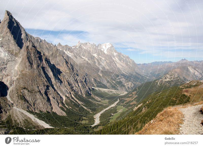 Alpen Natur Landschaft Berge u. Gebirge Gipfel Außenaufnahme Tag Panorama (Aussicht) Menschenleer Reisefotografie